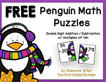 Penguin Math Puzzles FREEBIE!