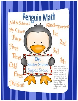 Penguin Math (add, subtract, odd, even, and division easy
