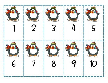 Penguin Numeral and Ten Frame Game