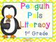 Penguin Pals 1st Grade Math & Literacy Centers (16 Centers)