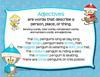 Penguin Parts of Speech Posters