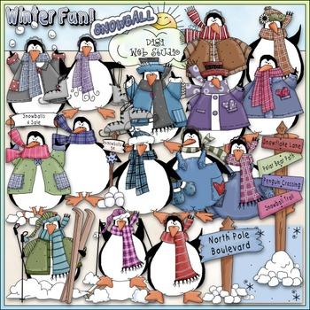 Penguin Party Clip Art - Penguin Clip Art - Winter Clip Ar