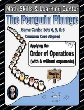 Penguin Plunge Game Cards (Order of Operations) Sets 4-5-6