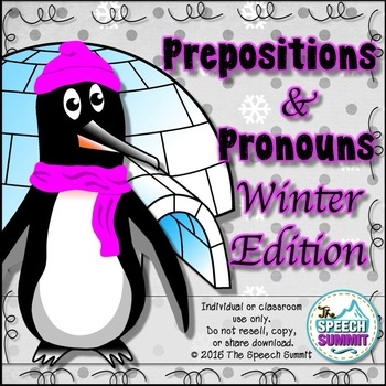 Prepositions & Pronouns {Winter Edition}