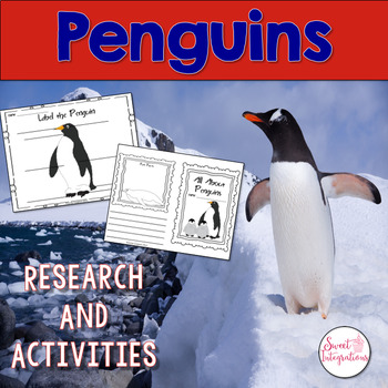 PENGUINS ACTIVITIES - Nonfiction Research With PowerPoint Game
