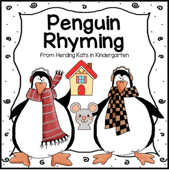 Penguin Rhyming Match-up for Literacy Centers & Phonologic