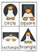 Penguin Shapes Write / Stamp the Room Activity Pack