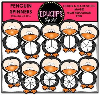 Penguin Spinners Clip Art Bundle  {Educlips Clipart}
