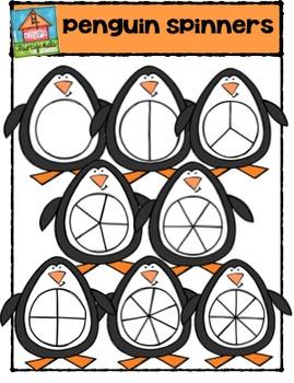 Penguin Spinners {P4 Clips Trioriginals Digital Clip Art}