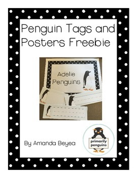 Penguin Tags and Posters Freebie