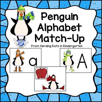 Penguin Themed Alphabet Match-Up