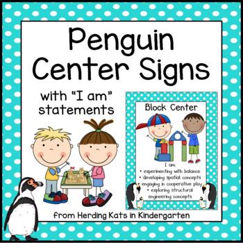 Penguin Themed Center Signs