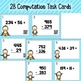 Penguin Triple Digit Addition and Subtraction Task Cards/R