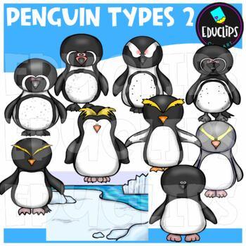 Penguin Types 2 Clip Art Bundle {Educlips Clipart}