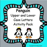 Penguin Upper and Lower Case Letters Literacy Center - let