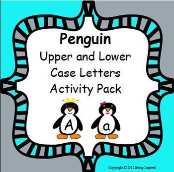 Penguin Upper and Lower Case Letters Literacy Center - let