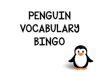 Penguin Vocabulary Bingo