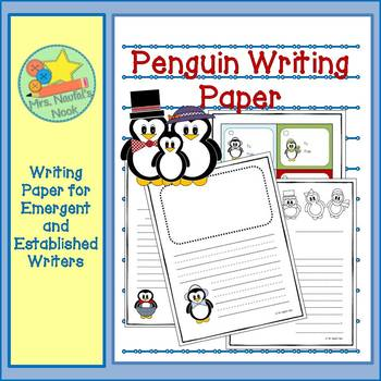 Writing Paper Templates - Penguin Theme