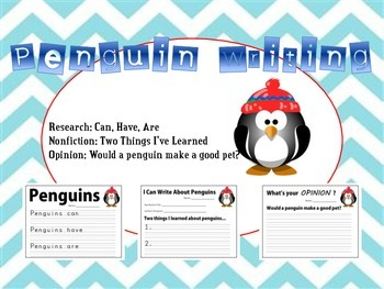 Penguing Writing - Research, Informative, Opinion - Kinder