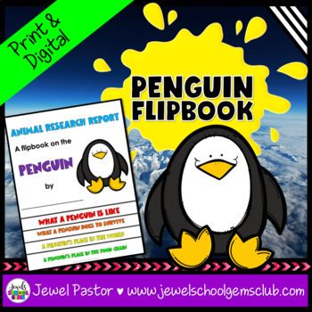 Winter Science Activities (Penguin Research Flipbook)
