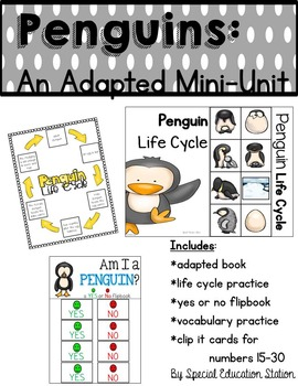 Penguins Adapted Mini Unit