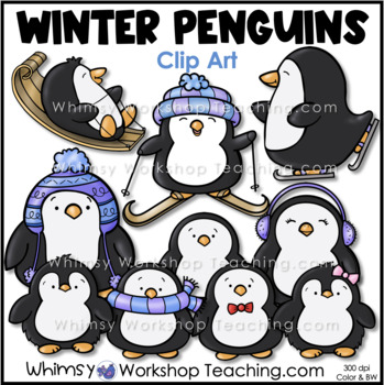 Penguins Clip Art Whimsy Workshop Teaching