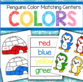 Penguins Color Matching Centers for Preschool