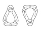 Penguins-Coloring Pages