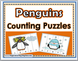 Penguins Counting Puzzles Numbers 1-10 - Winter Activity
