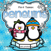 Penguins Math and Literacy Activities and Centers for Pres