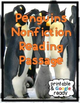 Penguins Nonfiction Close Reading Passage