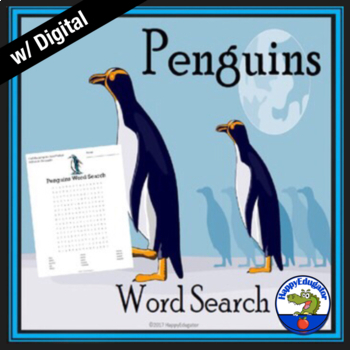 Penguins Word Search