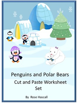 Winter Activities Penguins and Polar Bears Cut and Paste M