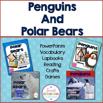 ARCTIC ANIMALS BUNDLE - Penguins and Polar Bears With Lapbooks