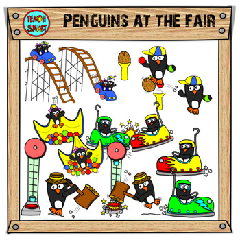 Penguins at the Fair Clip Art