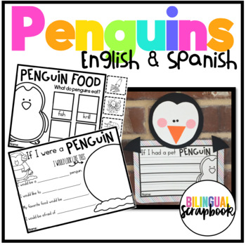 Penguins (Craft, vocabulary cards, and printables in Engli