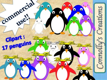 Penguins : skinny and macaroni penguins clip art for Comme