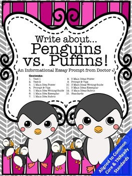 Penguins vs. Puffins Informational Essay Writing Common Co
