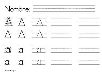 Penmanship A to Z (Spanish)