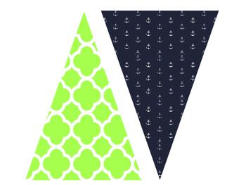 Pennant Banner {Preppy Nautical Theme!}