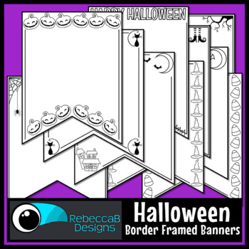 Halloween Pennant Doodle Borders
