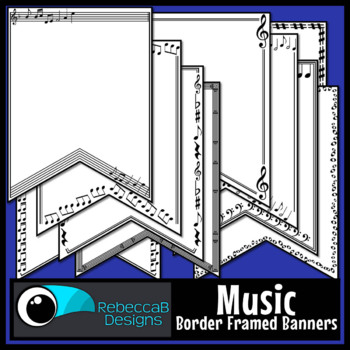 Music Pennant Doodle Borders