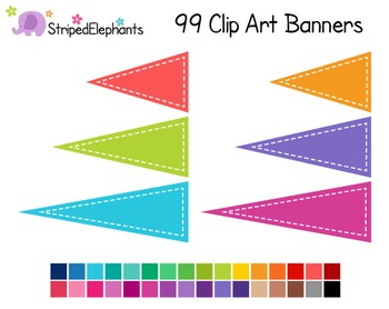 Pennant Flags Clip Art 1