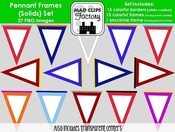 Pennant Frames {Solids} Set