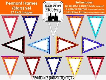 Pennant Frames {Stars} Set