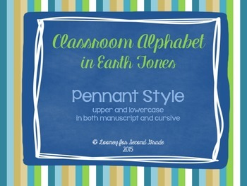 Pennant Style Alphabet in both Manuscript and Cursive