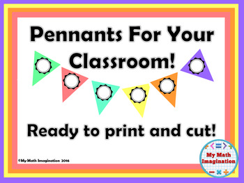 Pennants For Your Classroom - Pastel Colors