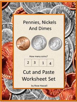 Money Activities Counting COINS Pennies Nickels Dimes Cut