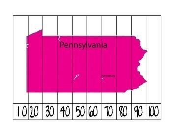 Pennsylvania Counting Puzzle Map