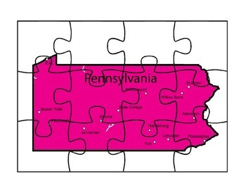 Pennsylvania State Map Puzzle Fun